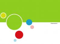 قالب پاورپوینتی حبابی سبز