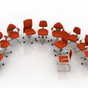 آبجکت های آماده ۳d max صندلی های اداری