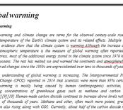 Global warming ردینگ