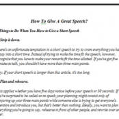 How To Give A Great Speech