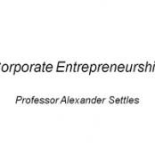 پاورپوینت Corporate Entrepreneurship