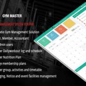 اسکریپت مدیریت باشگاه Gym Master