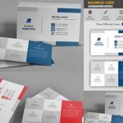 طرح لایه باز کارت ویزیت چند رنگ Business Card