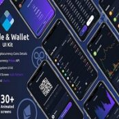 کیت رابط کاربری اپلیکیشن Crypto Trade & wallet Flutter UI kit