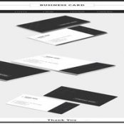دانلود Dark Gray and White Business Card Layout with Pattern