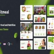 قالب فیت میل Fitmeal پوسته فروش محصولات ارگانیک وردپرس