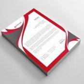 سربرگ رنگی شرکتی لایه باز Letterhead