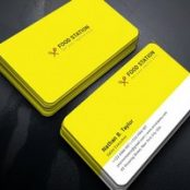 طرح لایه باز کارت ویزیت رستوران Restaurant Business Card