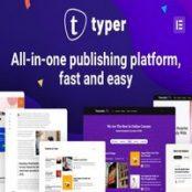قالب تیپیر Typer پوسته وبلاگ و مجله با چندین نویسنده وردپرس