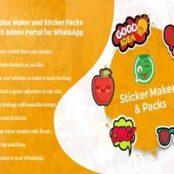 اپلیکیشن استیکر واتساپ برای اندروید WhatsApp Sticker Maker with Admin Portal