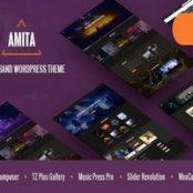قالب آمیتا Amita پوسته سایت موزیک وردپرس