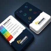 طرح لایه باز کارت ویزیت خلاقانه Creative Business Card