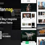 قالب گوتنمگ GutenMag پوسته مجله ای و وبلاگی وردپرس