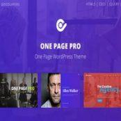 قالب وان پیج پرو One Page Pro پوسته تک صفحه ای وردپرس