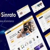 قالب سینراتو Sinrato پوسته فروشگاه الکترونیکی وردپرس