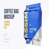 ماک آپ پاکت قهوه Coffee Bag mockup. Tassimo