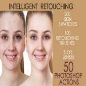 اکشن فتوشاپ رتوش ۵۰ Photoshop Actions Retouching Skin