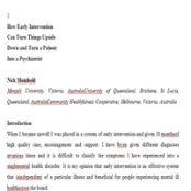 ترجمه متون روانشناسی ۲ مداخله زود هنگام