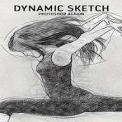 اکشن فتوشاپDynamic Sketch Action