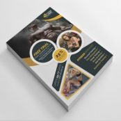 طرح تراکت بدنسازی Fitness Flyer Layout with Yellow Accents