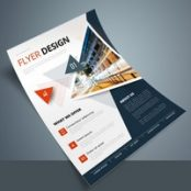 تراکت شرکتی Colorful Business Flyer Layout with Triangle Elements