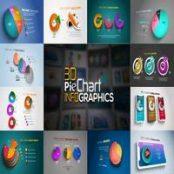 افتر افکت اینفوگرافیک نمودار دایره ای سه بعدی ۳D Pie Chart Infographics
