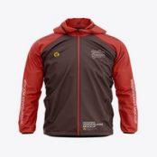 ماک آپ کاپشن مردانه Men's Lightweight Hooded Windbreaker Jacket