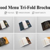 طرح بروشور منوی غذا Food Menu Tri Fold Bochures