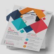 تراکت شرکتی با طرح های هندسی Colorful Geometric Flyer Layout