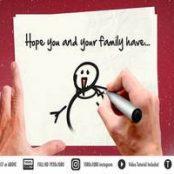 دانلود افتر افکت پیام تبریک کریسمس نقاشی روی کاغذ