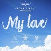 اکشن فتوشاپ متن ابری  Cloud Text – Photoshop Action