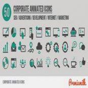 افترافکت با موضوع شرکتی و تجاری Corporate Animated Icons
