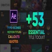 افتر افکت Essential Titles Toolkit