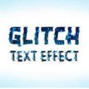 ماک آپ متن گلیچ Glitch Text Effect Mockup