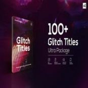 افترافکت Glitch Titles Pack