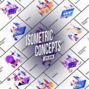 افترافکت Isometric Concept – Lottie Edition
