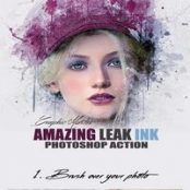 اکشن فتوشاپ Leak Ink Photoshop Action by GMaster