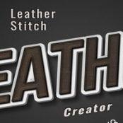 افکت فتوشاپ چرم دور دوزی Leather Stitching Effect Creator