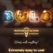 اکشن فتوشاپ لامپ Light Bulb – Photoshop Action
