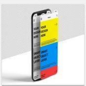 ماک آپ صفحه نمایش موبایل Mockup of 2 Smartphone Screen Designs