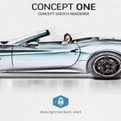 اکشن فتوشاپ Concept One – Concept Sketch Renderer Action