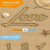 اکشن فتوشاپ نوشته روی ماسه Sand Text – Photoshop Action