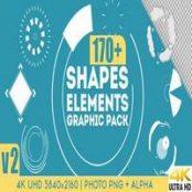 پک افترافکت گرافیکی اشکال و عناصر Shapes & Elements Graphic Pack