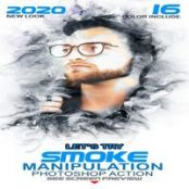اکشن فتوشاپ دود Smoke Manipulation Photoshop Action
