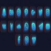 افتر افکت پک آیکن و لوگوی شبکه های اجتماعی Social Media Logo Pack