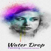 اکشن فتوشاپ Water Drop Painting Photoshop Action