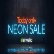افتر افکت ویدیو تبلیغاتی Neon Sale