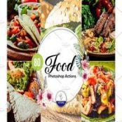 اکشن فتوشاپ عکاسی غذا ۸۰ Food Photoshop Actions Vol2
