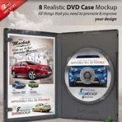 ماک آپ قاب سی دی و دی وی دی  Realistic DVD/CD Case Mockup