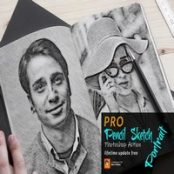 اکشن فتوشاپ نقاشی سیاه قلم Pencil Sketch Portrait PS Action